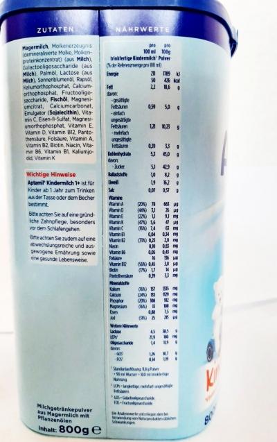 МОЛОЧНАЯ СМЕСЬ АПТАМИЛ Kindermilch 1+ 800 г